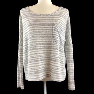 UO Sparkle & Fade Striped Dolman Pocket Sweater